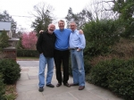 Steve Yas, Marc Bergschneider and Rich Thaler at Rich's home in Bronxville, New York  (why did Steve transplant hair fr